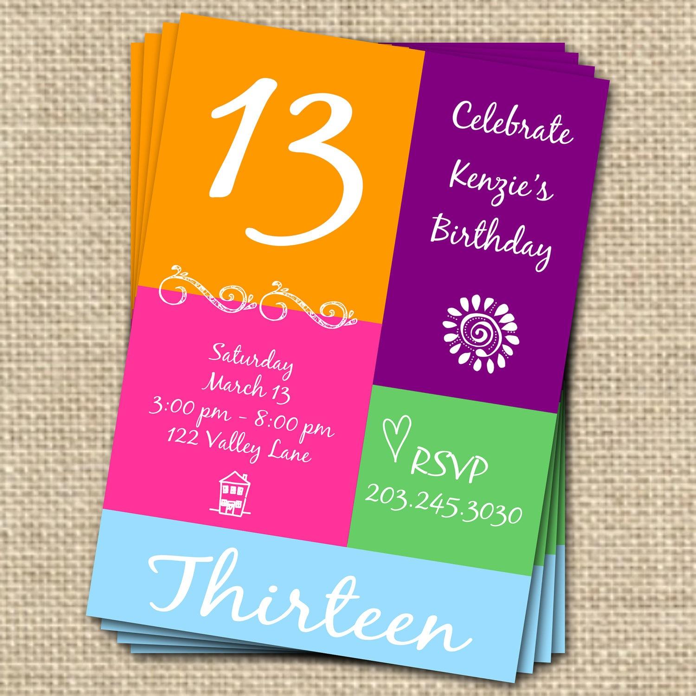 13Th Birthday Cards Printable Free – Happy Holidays! - 13Th Birthday Cards Printable Free