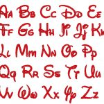 14 Lovely Disney Letter Stencils For All | Kittybabylove   Free Printable Disney Font Stencils