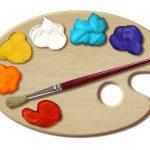 14 Painter's Palette Template Images   Paint Palette Template, Paint   Free Printable Paint Palette