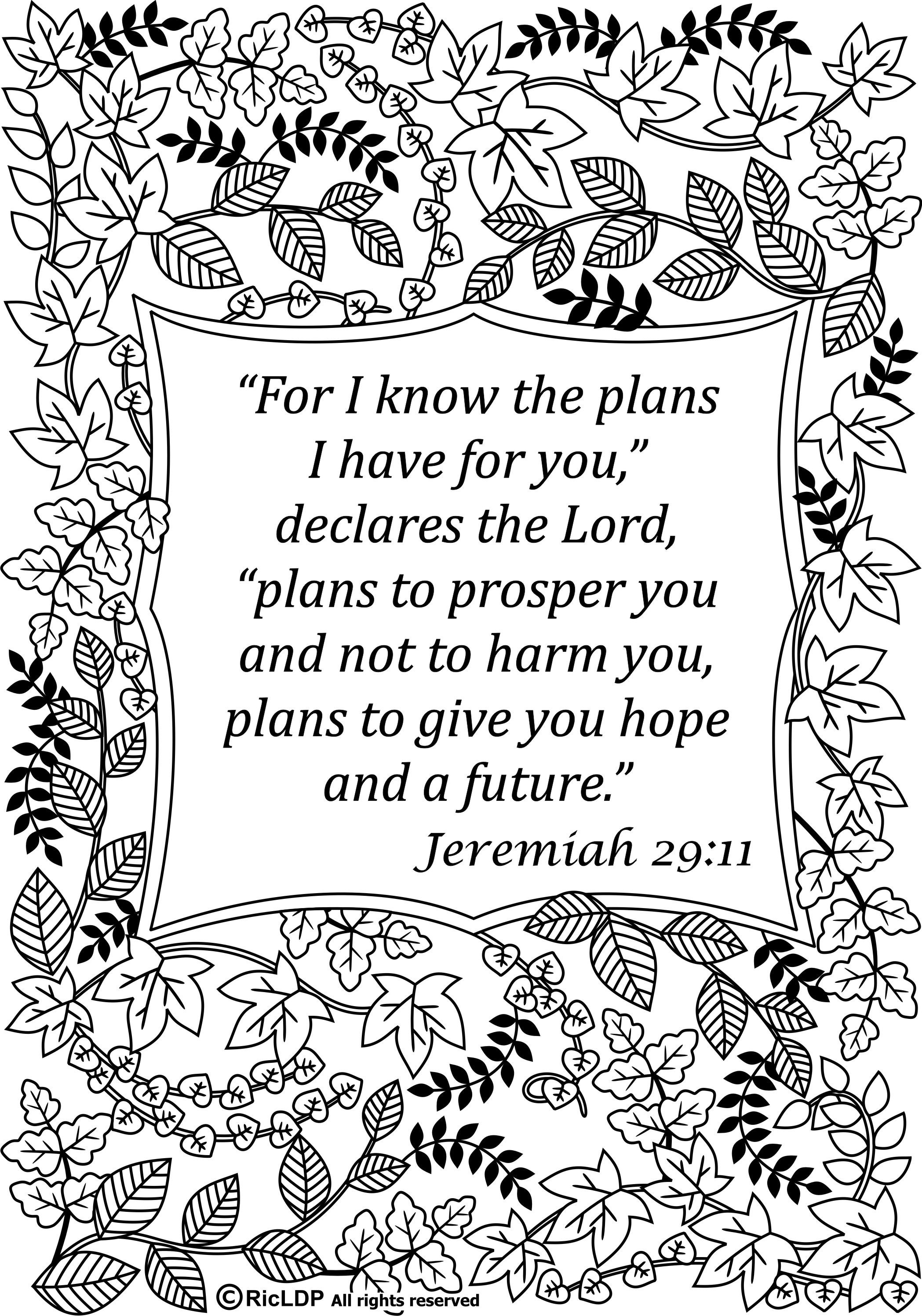 15 Bible Verses Coloring Pages | Coloring Pages With Bible Verses - Free Printable Bible Verses Adults