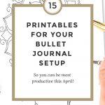 15 Bullet Journal Printables April 2017 + Freebies   Wundertastisch   Free Bullet Journal Printables 2017