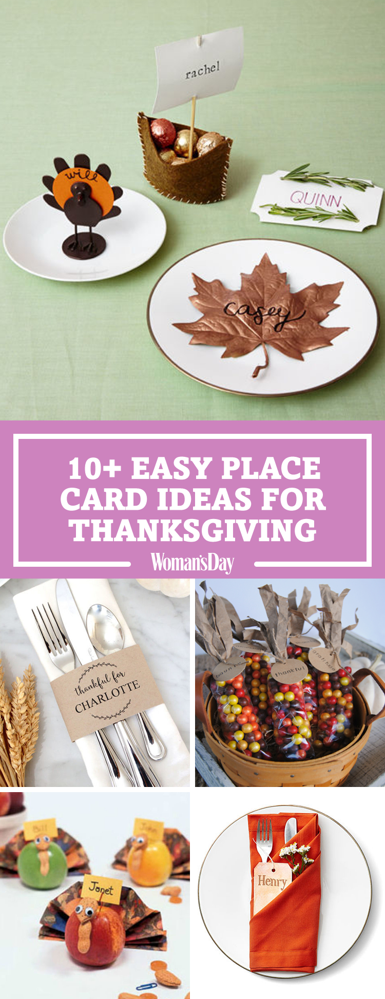 15 Diy Thanksgiving Place Cards - Craft Ideas For Fall Table Name Cards - Free Printable Personalized Thanksgiving Place Cards