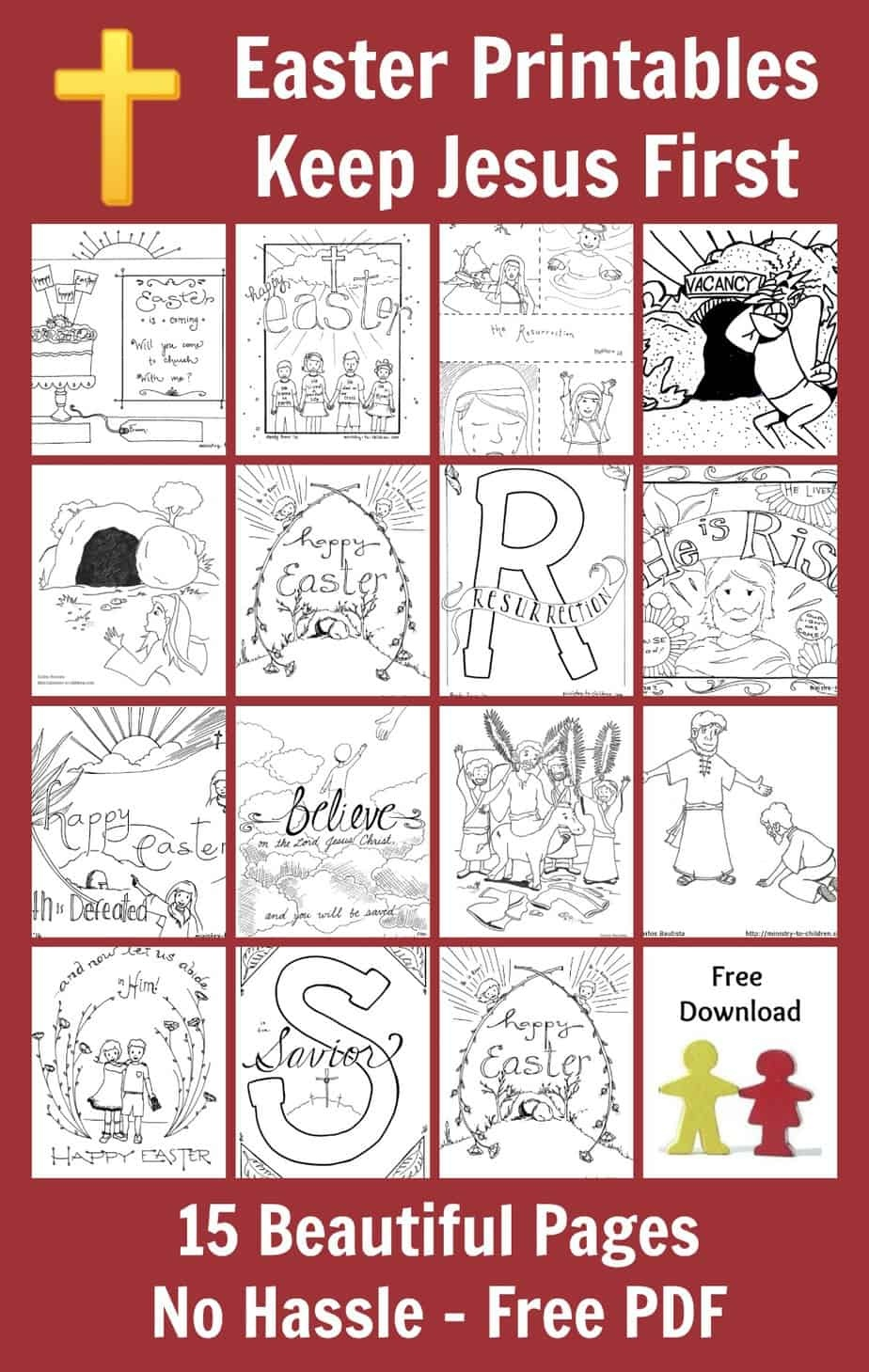 15 Easter Coloring Pages [Religious] Free Printables For Kids - Free Printable Good Friday Coloring Pages