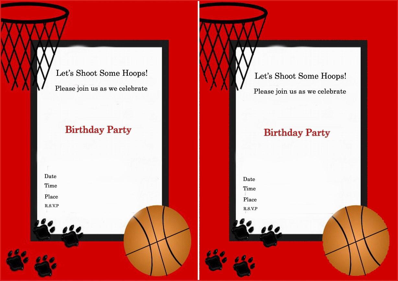15 Easy Basketball Birthday Cards : Lenq - Basketball Invites Free Printable