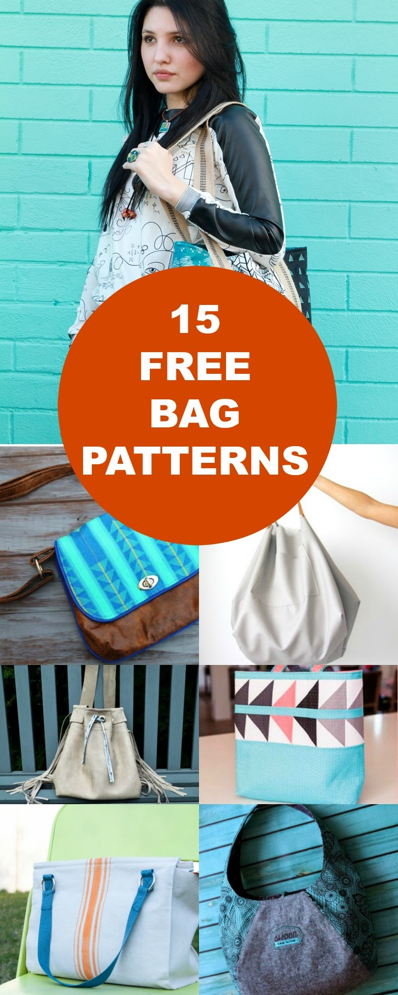15 Free Bags Patterns | On The Cutting Floor: Printable Pdf Sewing - Free Printable Purse Patterns To Sew