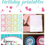 15 Free Birthday Printables | Party   Party Printables, Party En   Free Birthday Printables