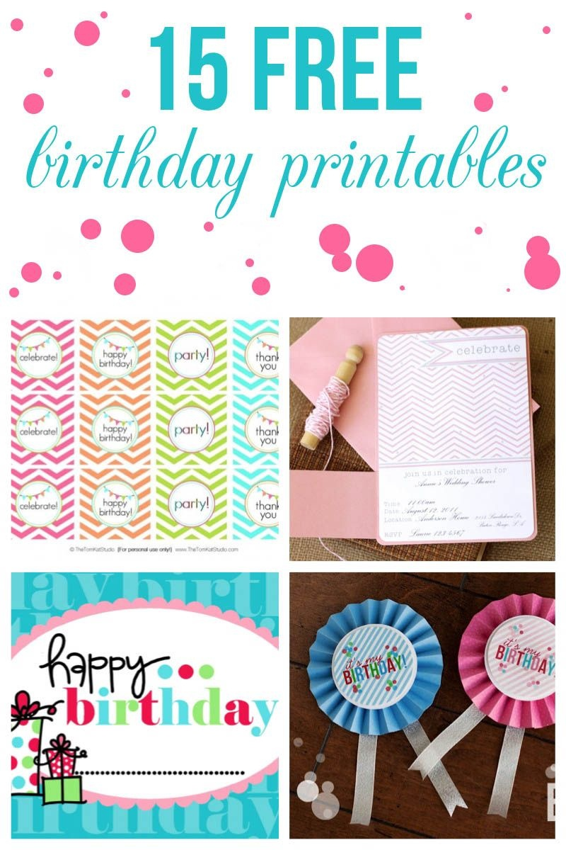 15 Free Birthday Printables | Party - Party Printables, Party En - Free Birthday Printables