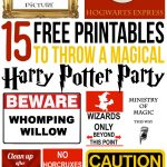 15 Free Harry Potter Party Printables   Part 1   Lovely Planner   Free Printable Harry Potter Pictures