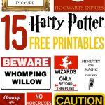 15 Free Harry Potter Printables   Lovely Planner   Free Printable Harry Potter Pictures