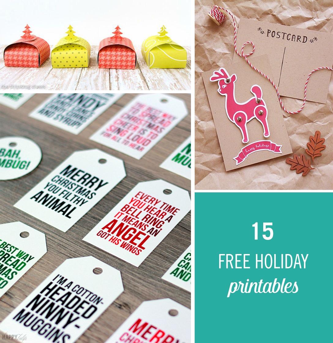 15 Free Holiday Printables To Make Gifting Easier | Babble - Free Holiday Printables