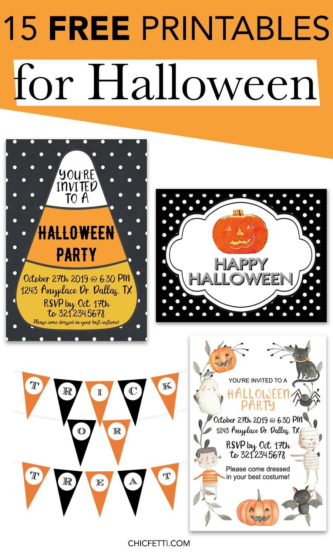 15 Free Printables For Halloween | Printable Wall Art For Home And - Free Printable Halloween Banner
