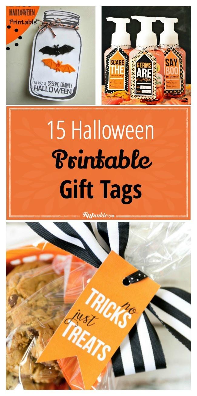 15 Halloween Printable Gift Tags {Free Printable} – Tip Junkie - Free Printable Pumpkin Gift Tags