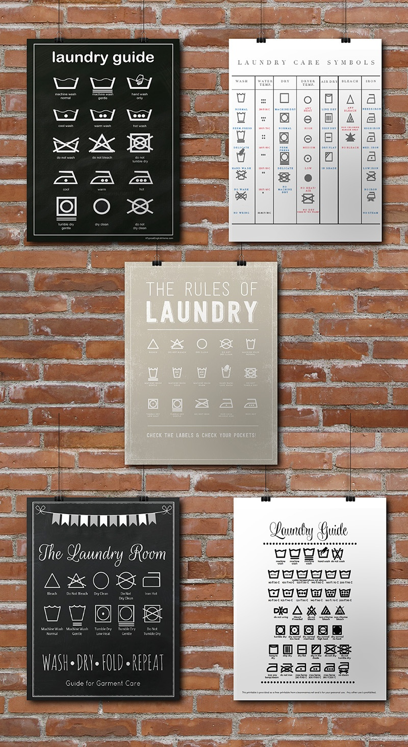15 Laundry Room Free Printables • Little Gold Pixel - Free Laundry Room Printables