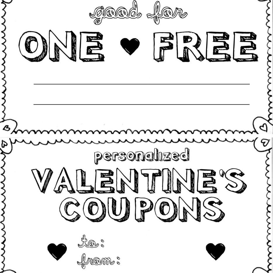 15 Sets Of Free Printable Love Coupons And Templates - Free Printable Valentines Day Coupons For Boyfriend