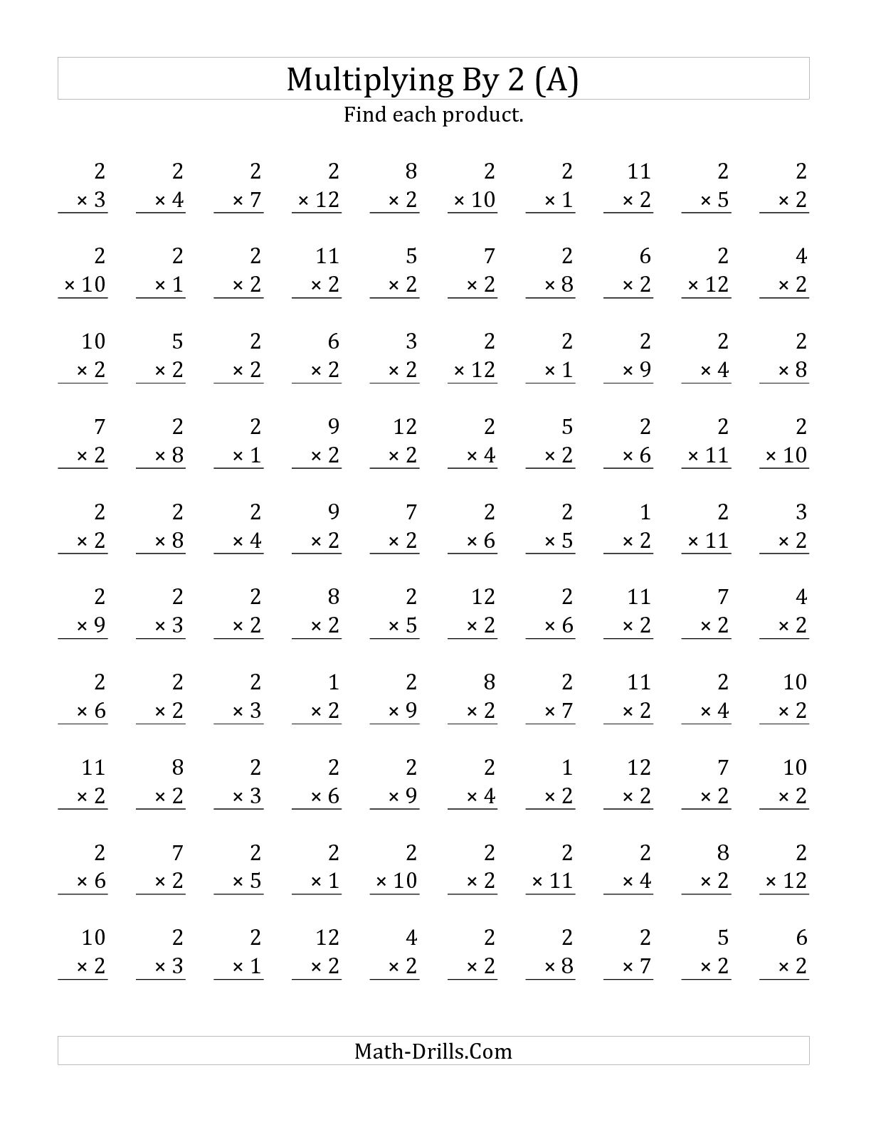 16 Best Images Of Subtraction Worksheets 100 Problems - 100 Problem - Free Printable Multiplication Worksheets 100 Problems