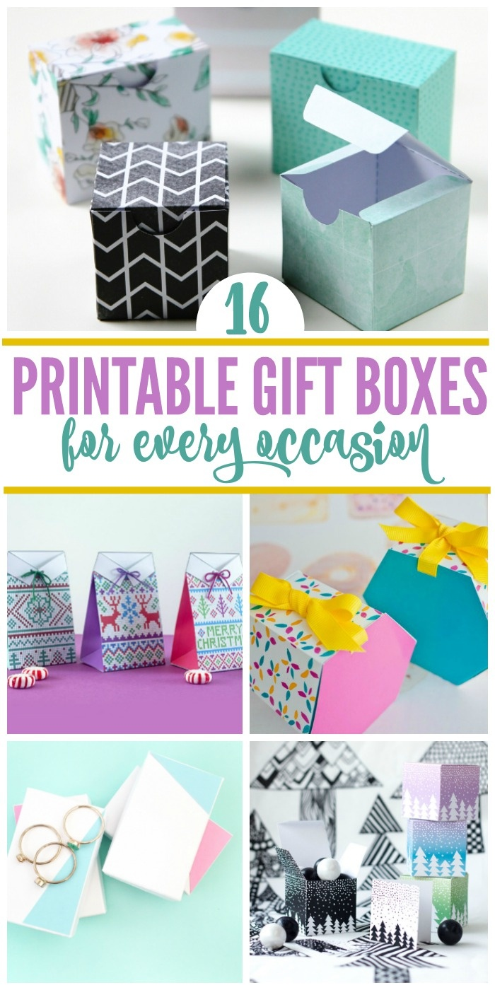 16 Free Printable Gift Boxes For Last Minute Wrappers - Free Printable Gift Boxes