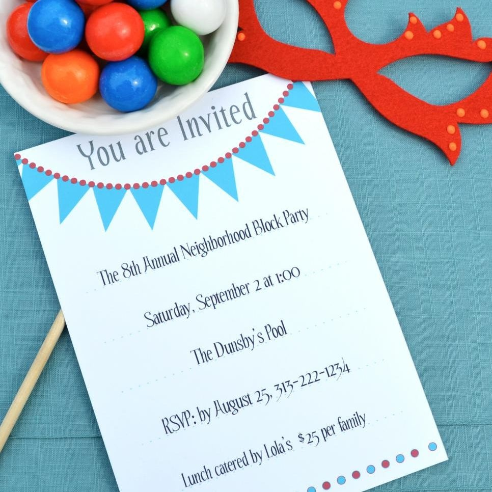 17 Free, Printable Birthday Invitations - Free Printable Save The Date Birthday Invitations