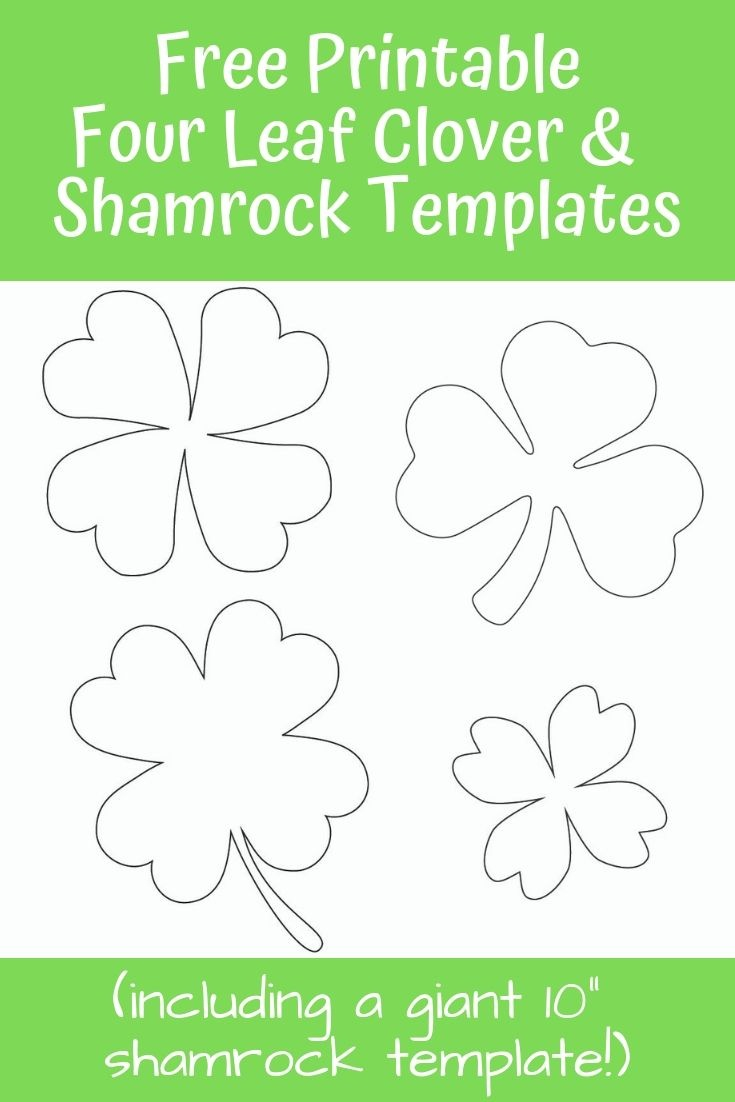17+ Free Printable Four Leaf Clover & Shamrock Templates   Free - Four Leaf Clover Template Printable Free