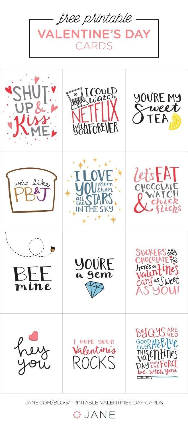 17 Free Printable Valentine Greeting Cards   Valentine's Inspiration - Valentine Free Printable Cards