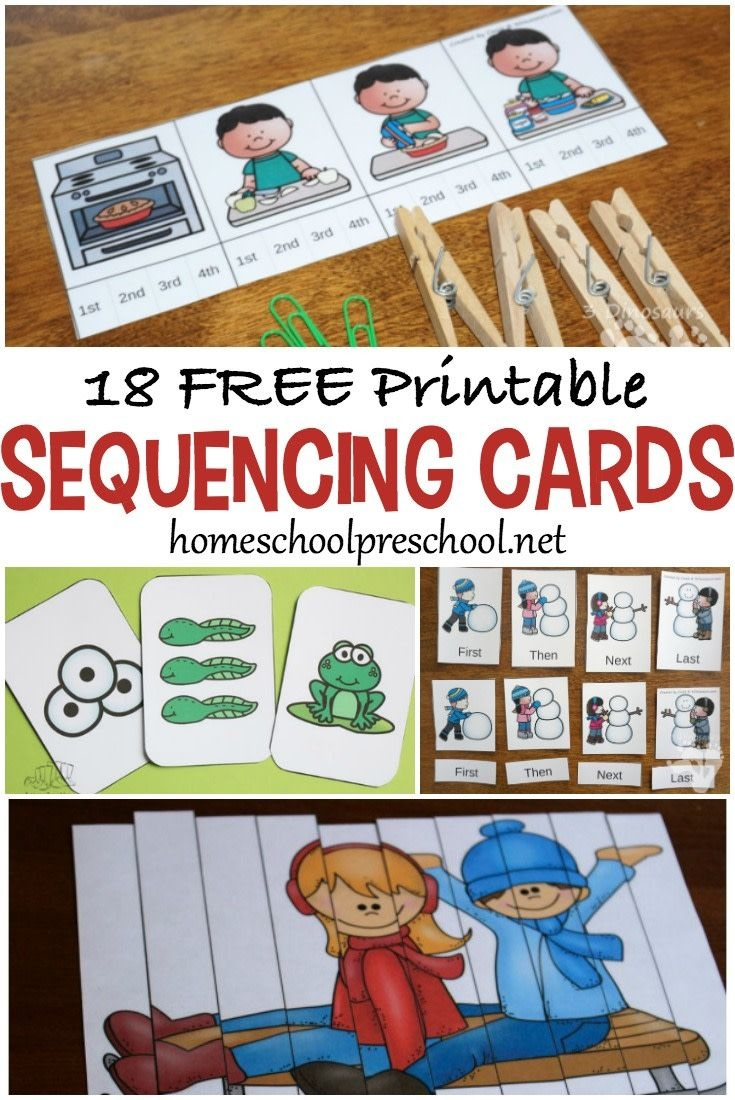 18 Free Printable Sequencing Cards For Preschoolers   Homeschool - Free Printable Sequencing Cards