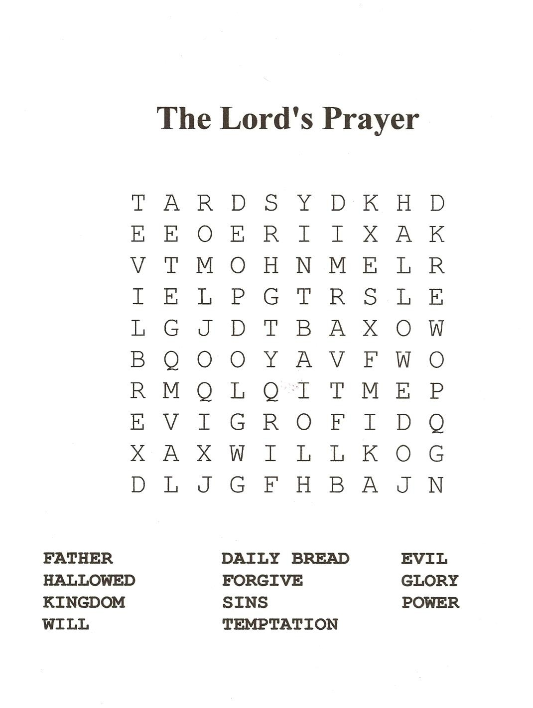 18 Fun Printable Bible Word Search Puzzles   Kittybabylove - Free Printable Catholic Word Search
