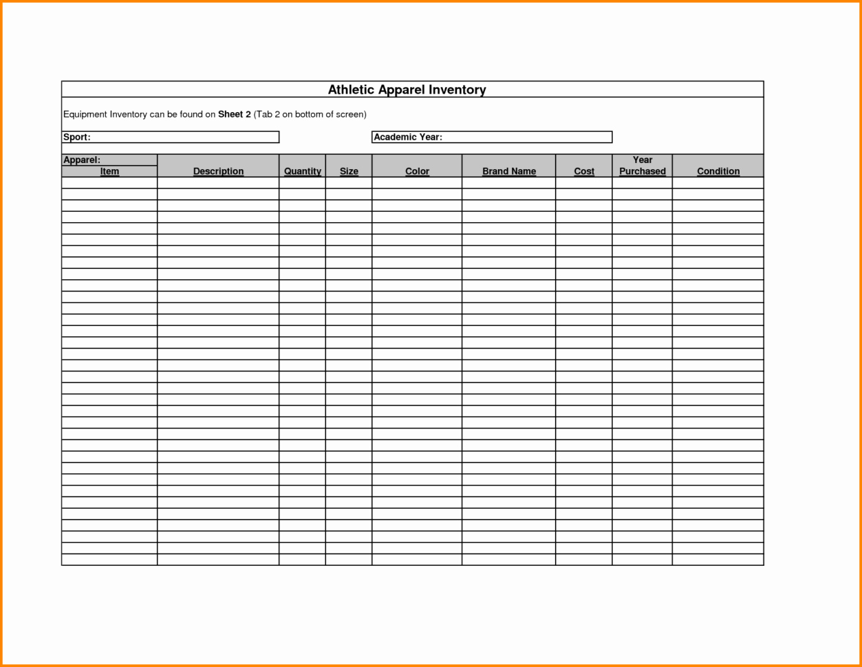 18 Inventory Tracking Spreadsheet Template Free – Lodeling - Free Printable Inventory Sheets