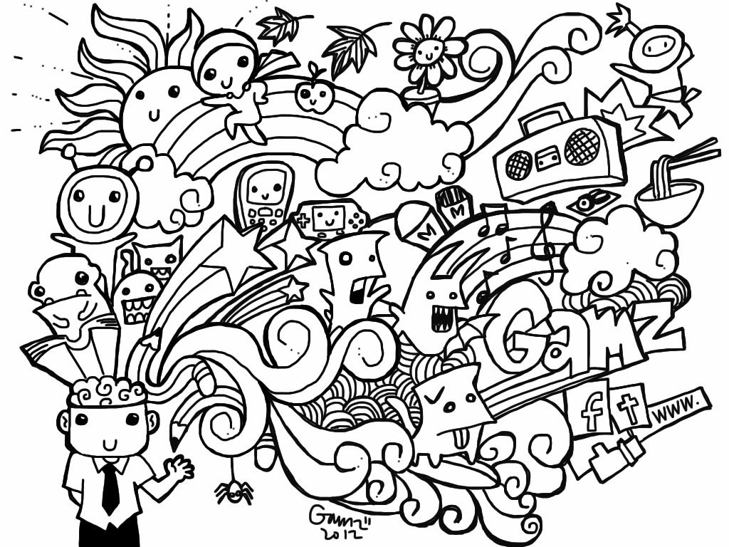 18 Pics Of Heart Coloring Pages Free Printable Doodle Art - Heart - Free Printable Doodle Art Coloring Pages