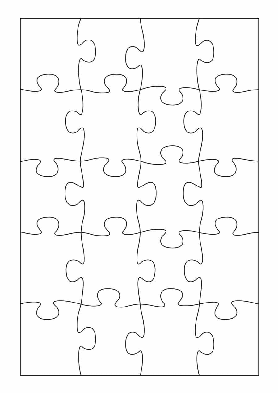 19 Printable Puzzle Piece Templates ᐅ Template Lab - Free Printable Blank Jigsaw Puzzle Pieces