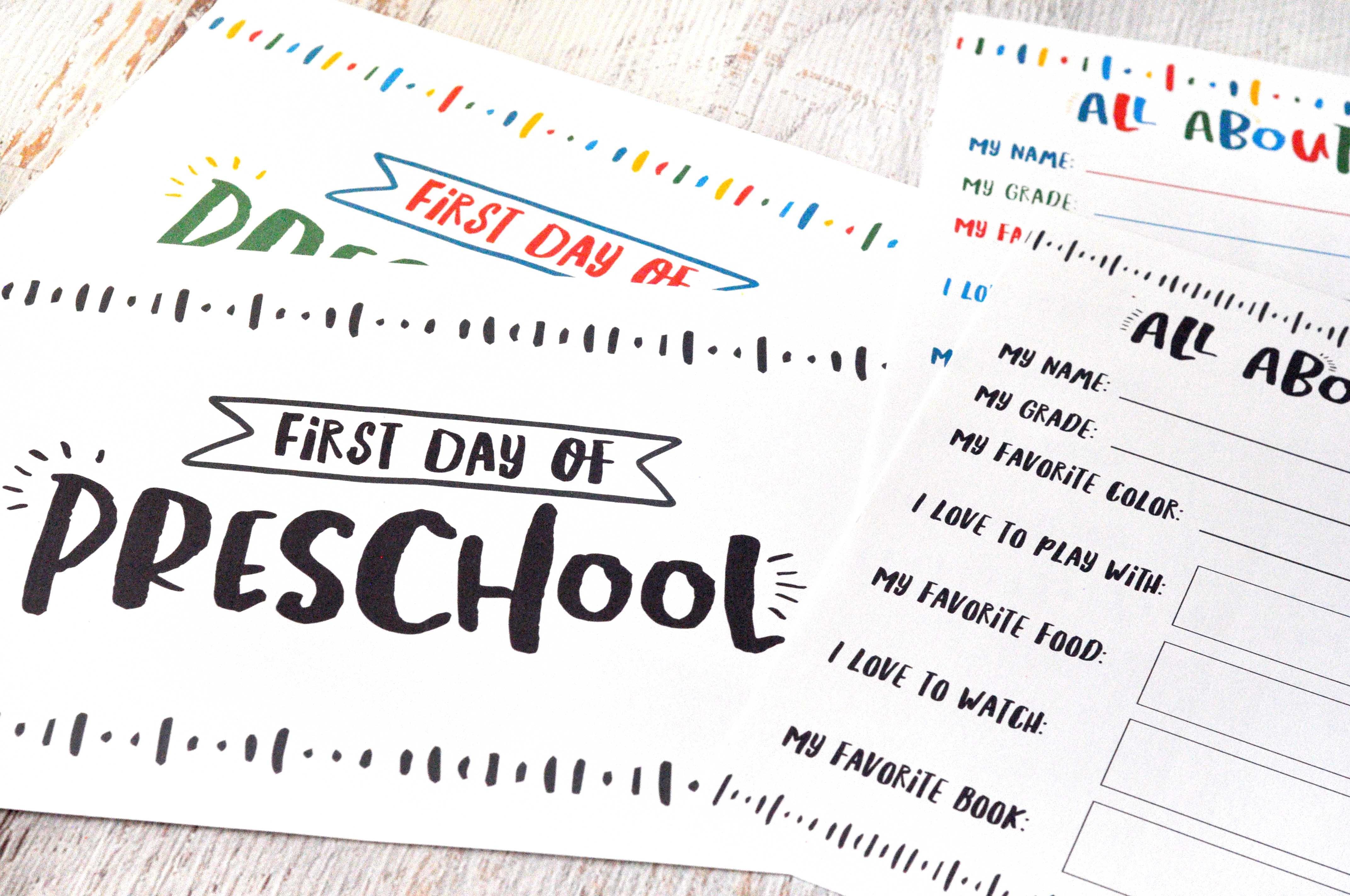 1St Day Of School Free Printables | Www.teepeegirl - Free School Printables