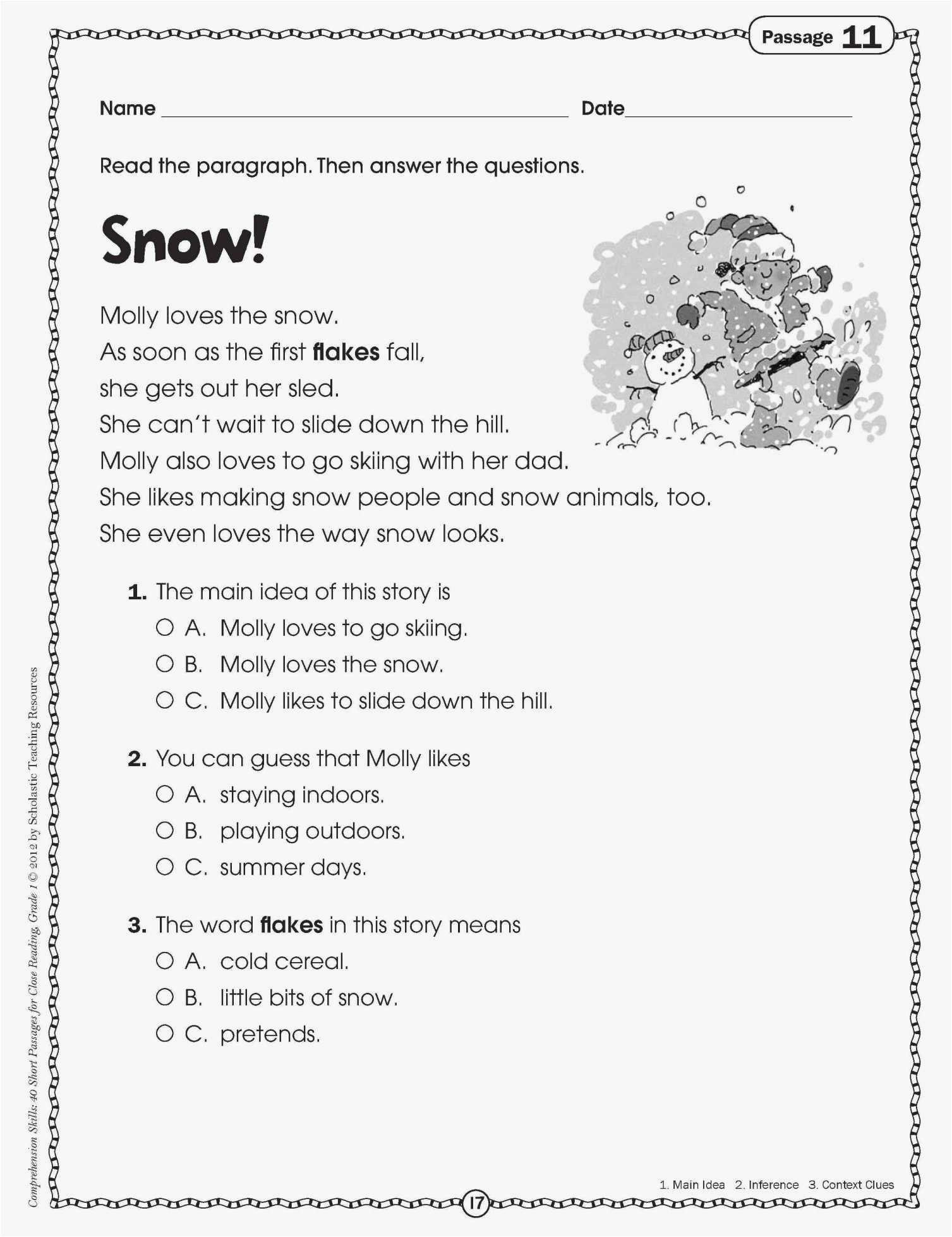 1St Grade Language Arts Worksheets - Math Worksheet For Kids - Free Reading Printables For 1St Grade