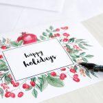 20 Diy Christmas Card Ideas   Easy Homemade Christmas Cards We're   Make A Holiday Card For Free Printable