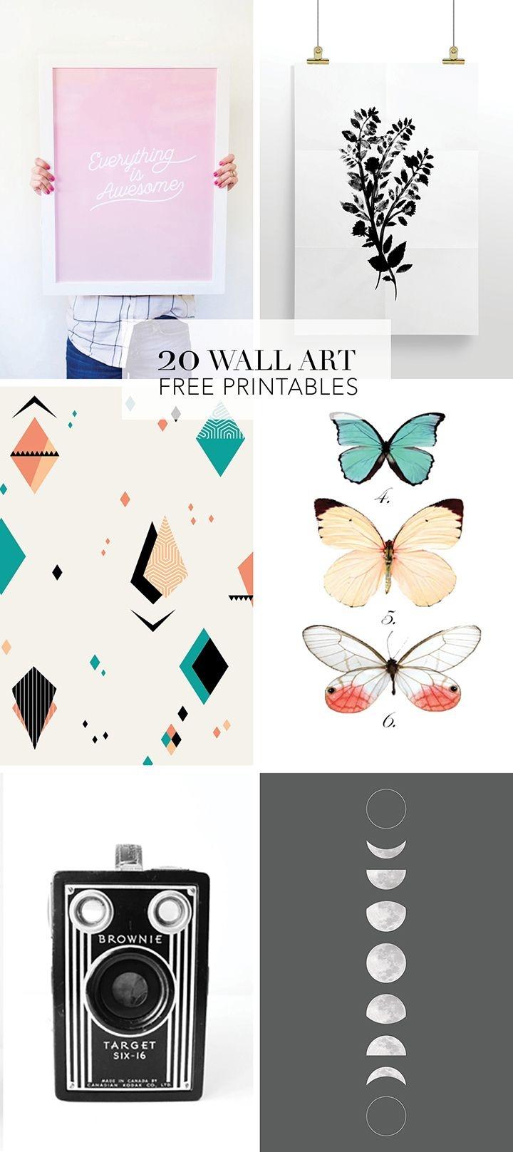 20 Favorite Wall Art Free Printables   Diy Wall Decor   Printable - Free Printable Art Pictures
