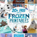 20+ Free Disney Frozen Printables {Activity Sheets & Party Decor}   Free Frozen Printables