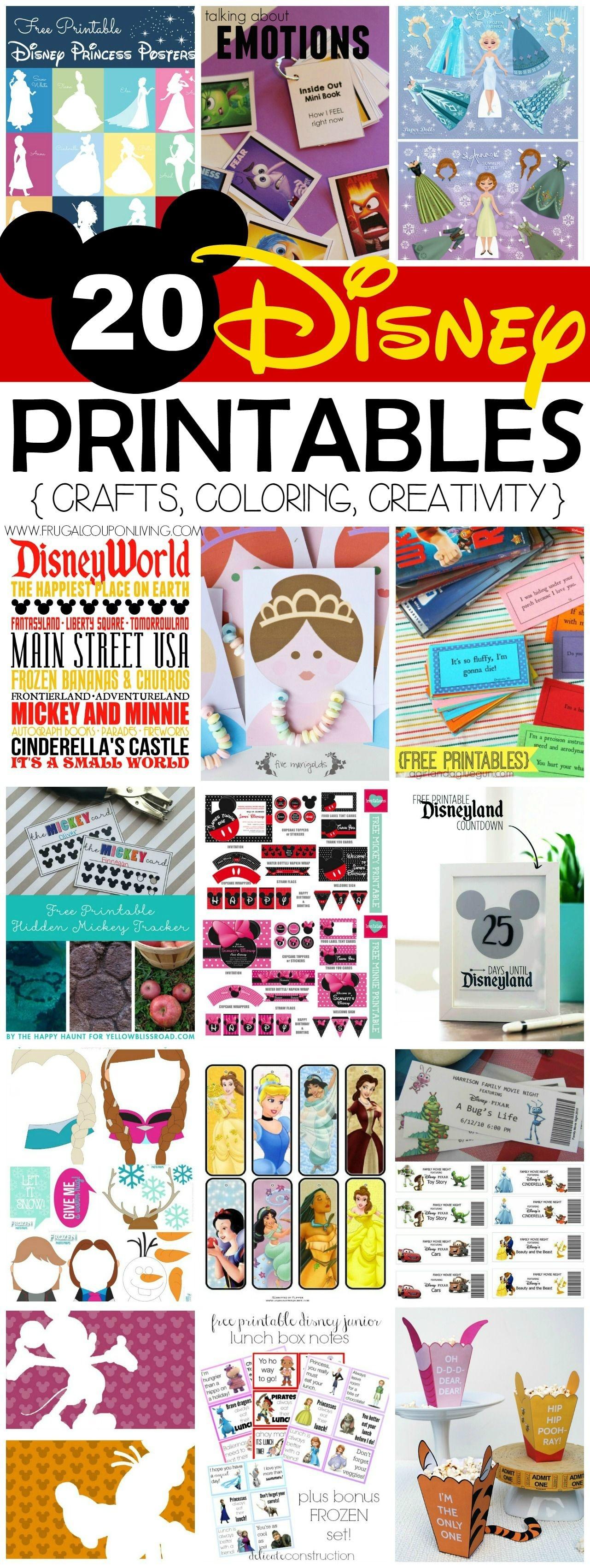 20 Free Disney Printables - Crafts, Coloring, Creativity | Disney - Free Disney Printables
