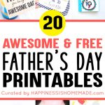 20+ Free Father's Day Printables   Happiness Is Homemade   Father's Day Card Printable Free
