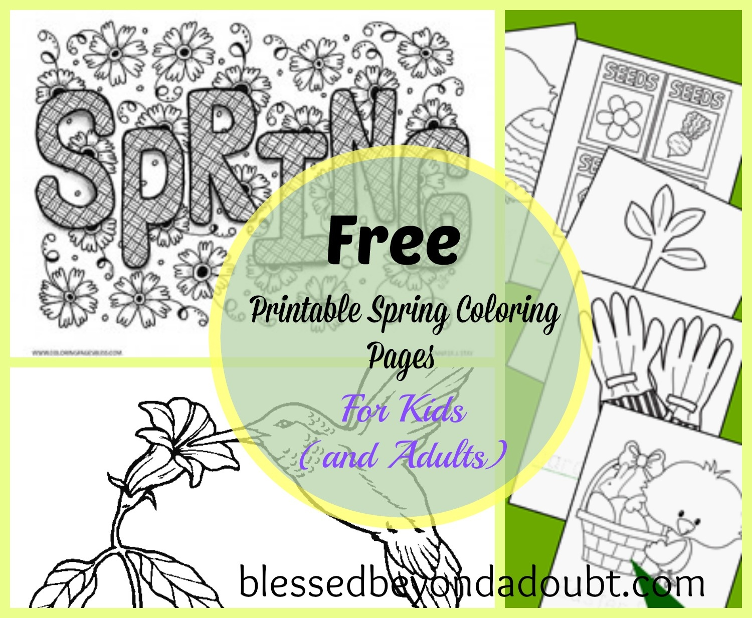 20 + Free Printable Spring Coloring Sheets For Kids (And Adults - Free Printable Spring Coloring Pages For Adults