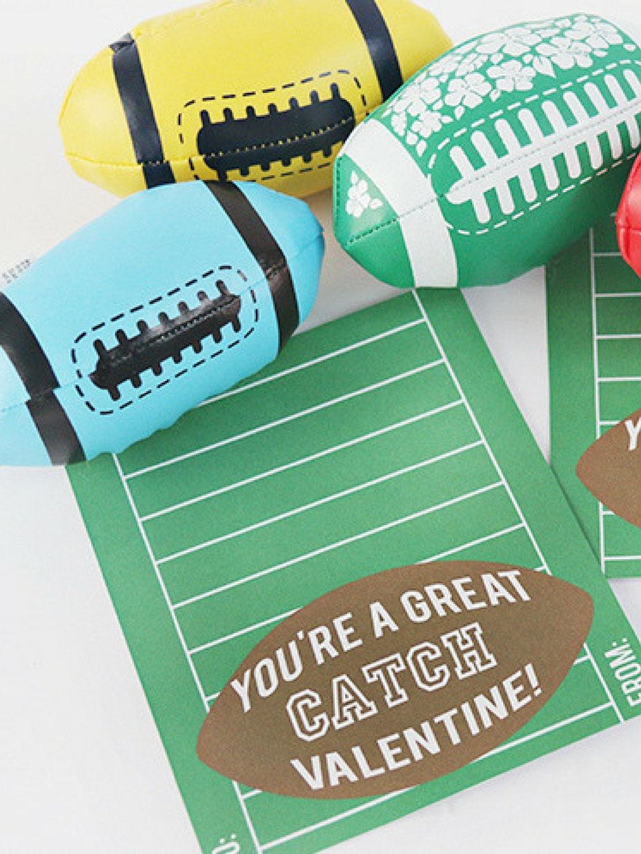 20 Free Valentine Printable Cards | Fun365 - Free Printable Football Valentines Day Cards