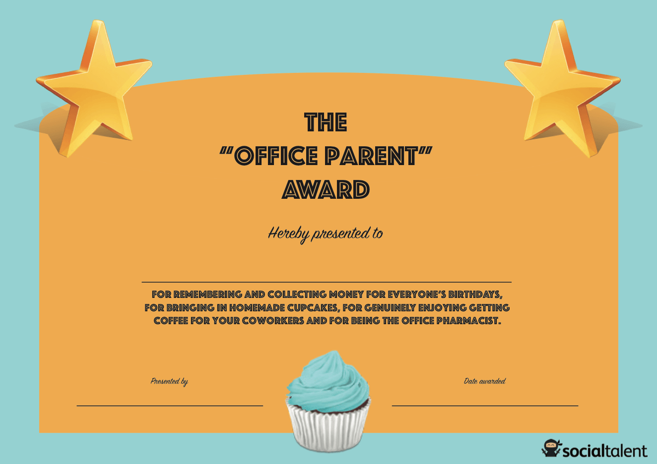 20 Hilarious Office Awards To Embarrass Your Colleagues | Socialtalent - Free Printable Funny Office Awards