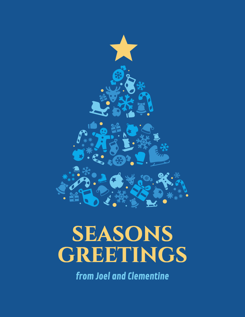 200+ Christmas Fonts, Christmas Card Templates & Christmas Icons - Free Printable Flat Christmas Cards