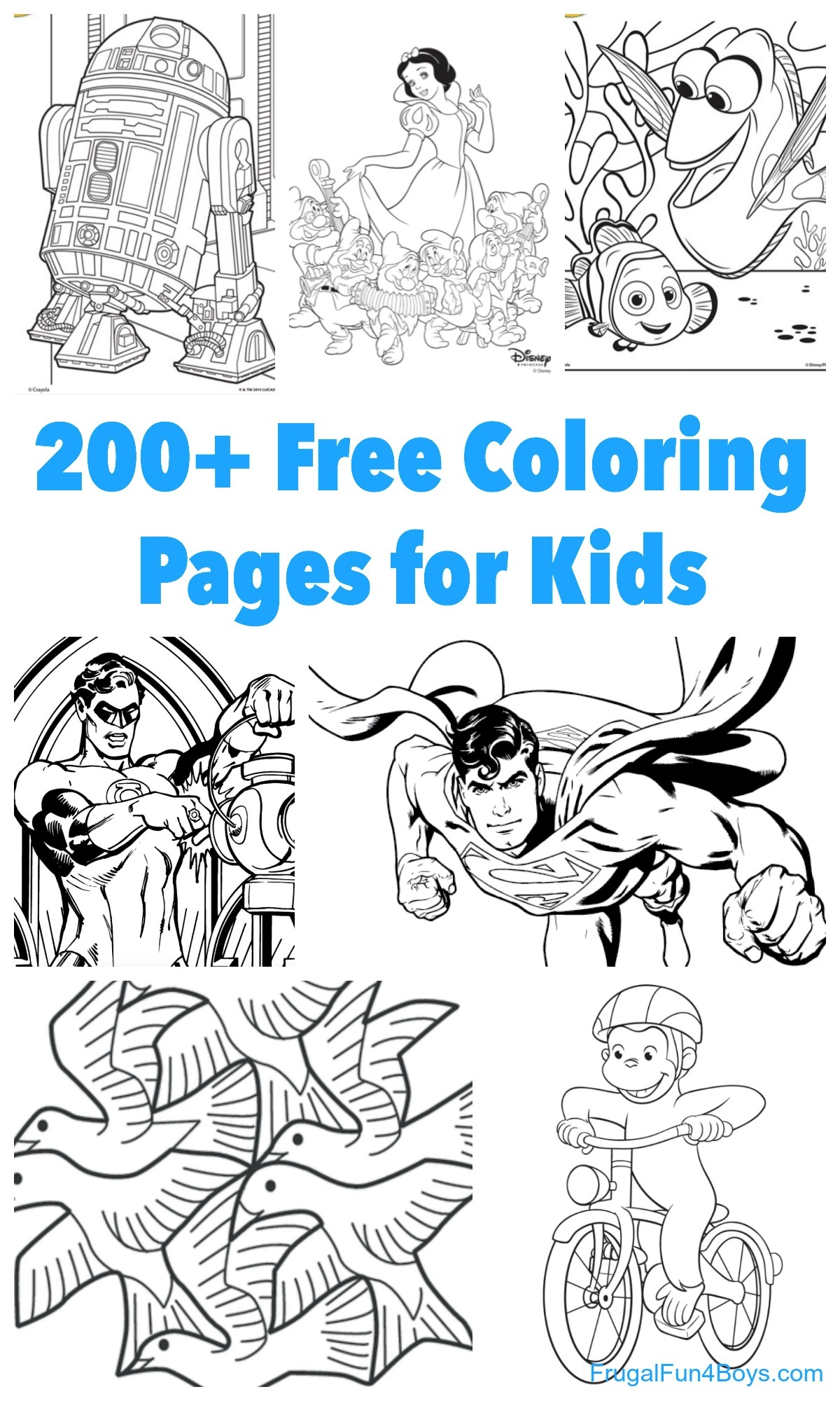 200+ Printable Coloring Pages For Kids - Frugal Fun For Boys And Girls - Free Printable Coloring Pages For 2 Year Olds
