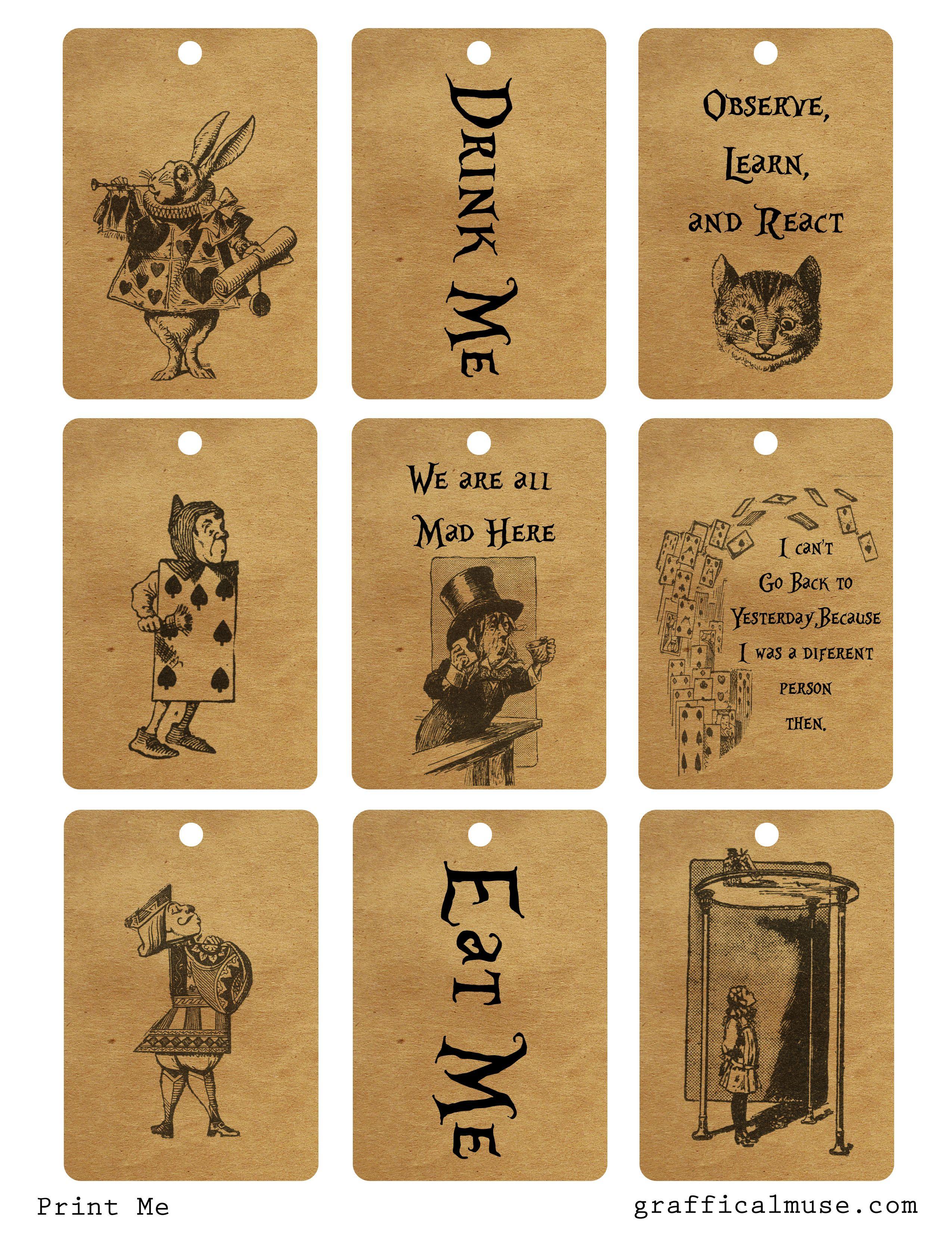 2016 Eat A Book Challenge | Arty / Diy | Alice In Wonderland Tea - Alice In Wonderland Free Printables