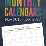 2017 Monthly Calendar Free Printables For Your Most Organized Year Yet   Free 2017 Printable