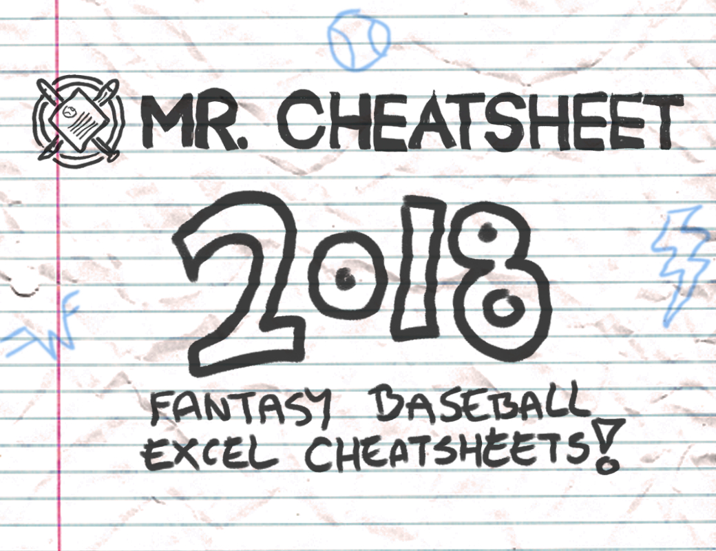 2018 Fantasy Baseball Excel Cheatsheets (Roto And Points Leagues - Free Fantasy Football Printable Draft Sheets