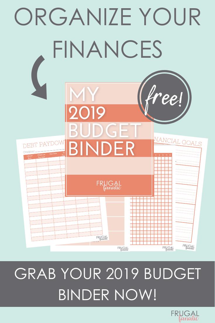 2019 Budget Binder Worksheets - Free Download - Frugal Fanatic - Budget Binder Printables 2017 Free