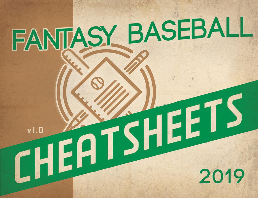 2019 Fantasy Baseball Excel Cheatsheets (Roto And Points Leagues - Free Fantasy Cheat Sheet Printable