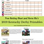 2019 Kentucky Derby Party & Free Betting Printables | Kentucky Derby   Free Kentucky Derby Printables