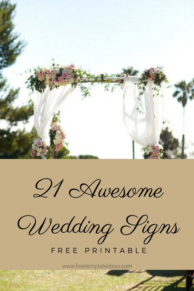 21+ Awesome Free Printable Wedding Signs | Awesome Blogs (Viral - Free Printable Wedding Decorations