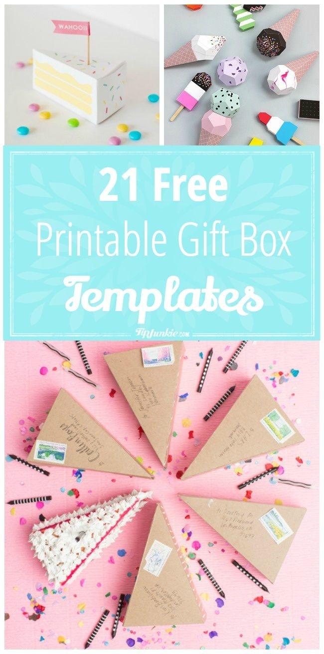 21 Free Printable Gift Box Templates   ** Free Printables **   Diy - Free Printable Gift Boxes