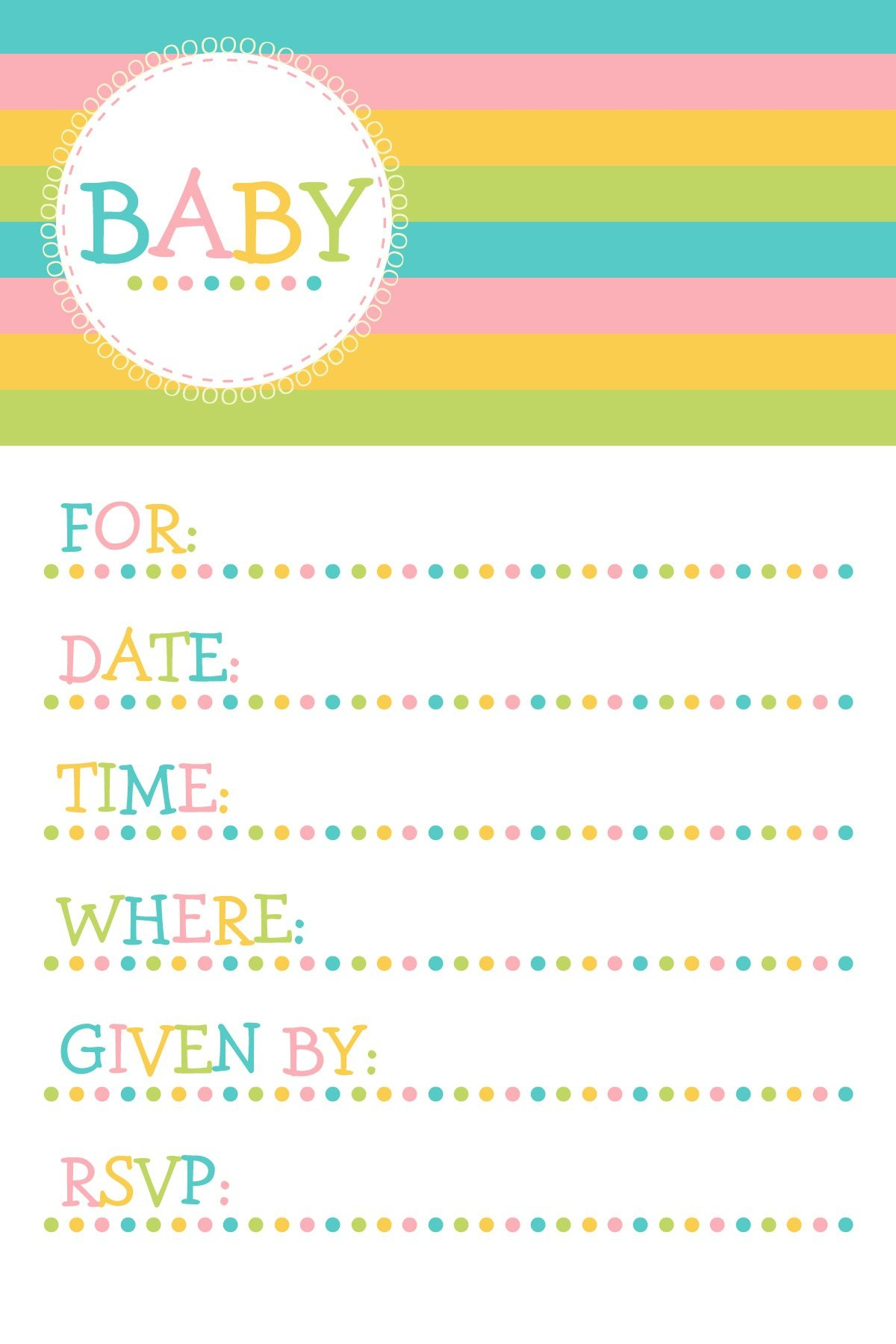 25 Adorable Free Printable Baby Shower Invitations - Free Printable Baby Shower Cards Templates