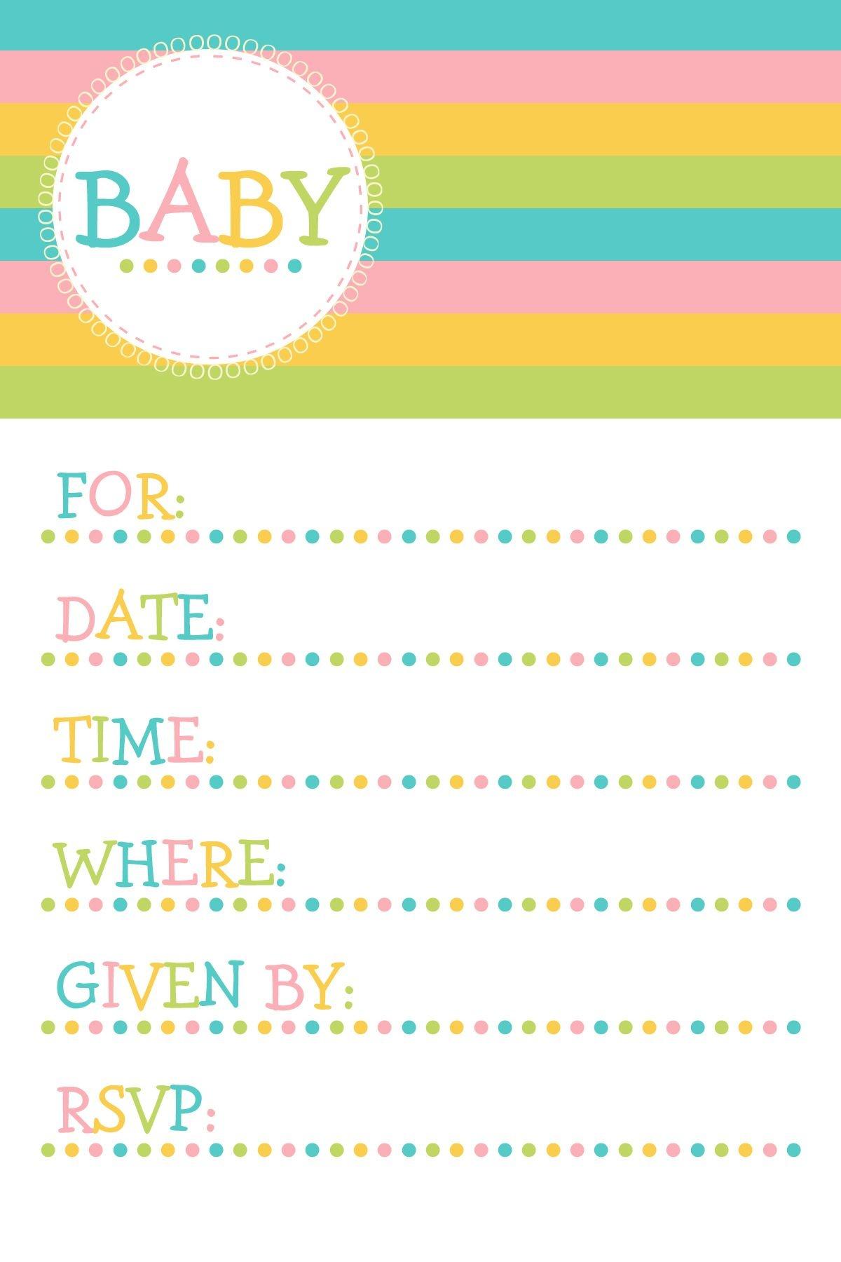 25 Adorable Free Printable Baby Shower Invitations - Free Printable Baby Shower Invitation Maker